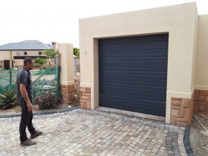 Charcoal Single Aluzinc sectional garage door