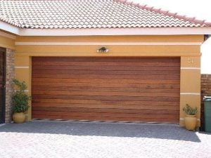 Meranti Horizontal Double Garage Door